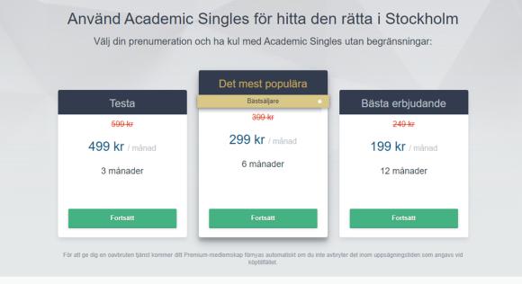 Academic Singles Priser